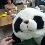 Huilen mag na slecht nieuws! Lang leve Panda-ogen, lieve vriendinnetjes en een Panda knuffel!