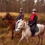 Paardrijden met Maarten ter ontspanning. Een leuk kerstcadeau van Rianne en Sabine!