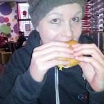 Een hamburger  direct na de operatie